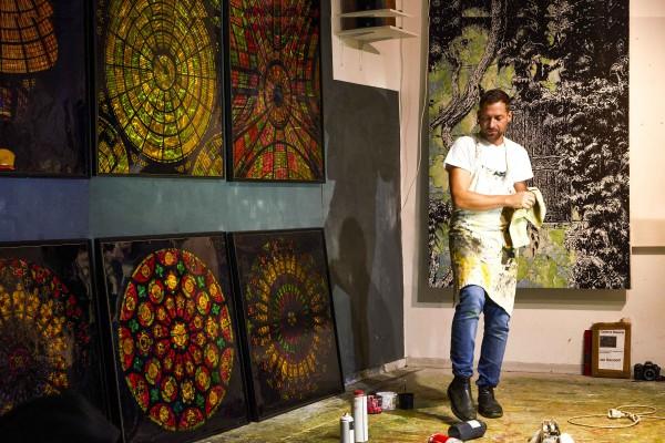 Jan Davidoff Atelieransicht  München 2019
