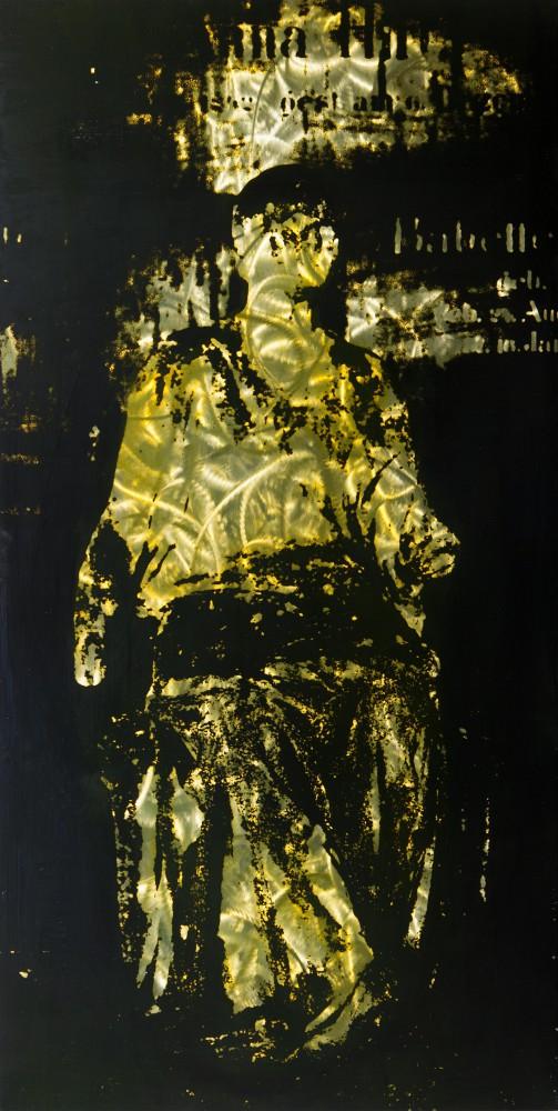 Anna, 2013, 120x60cm, Übermalter Reliefdruck auf Stahl