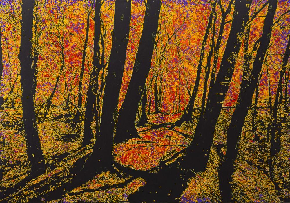 Ettlinger Schatten, 2014, 140x200cm, Mischtechnik auf LW