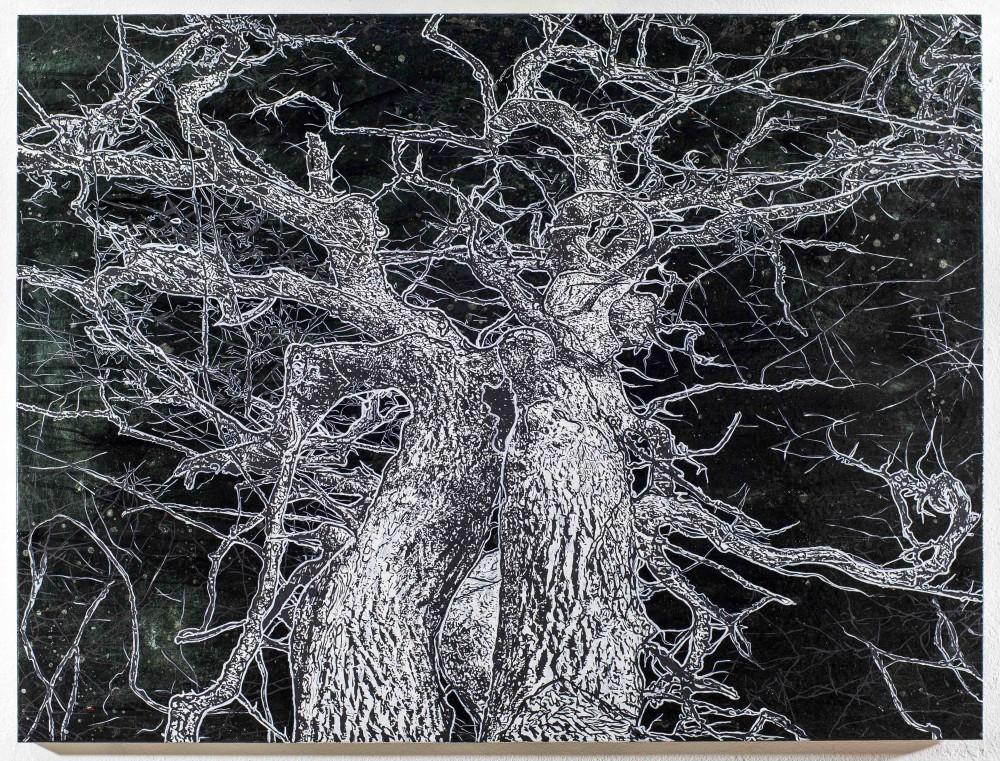Last Tree, 2015, 120x160cm, Mischtechnik auf LW