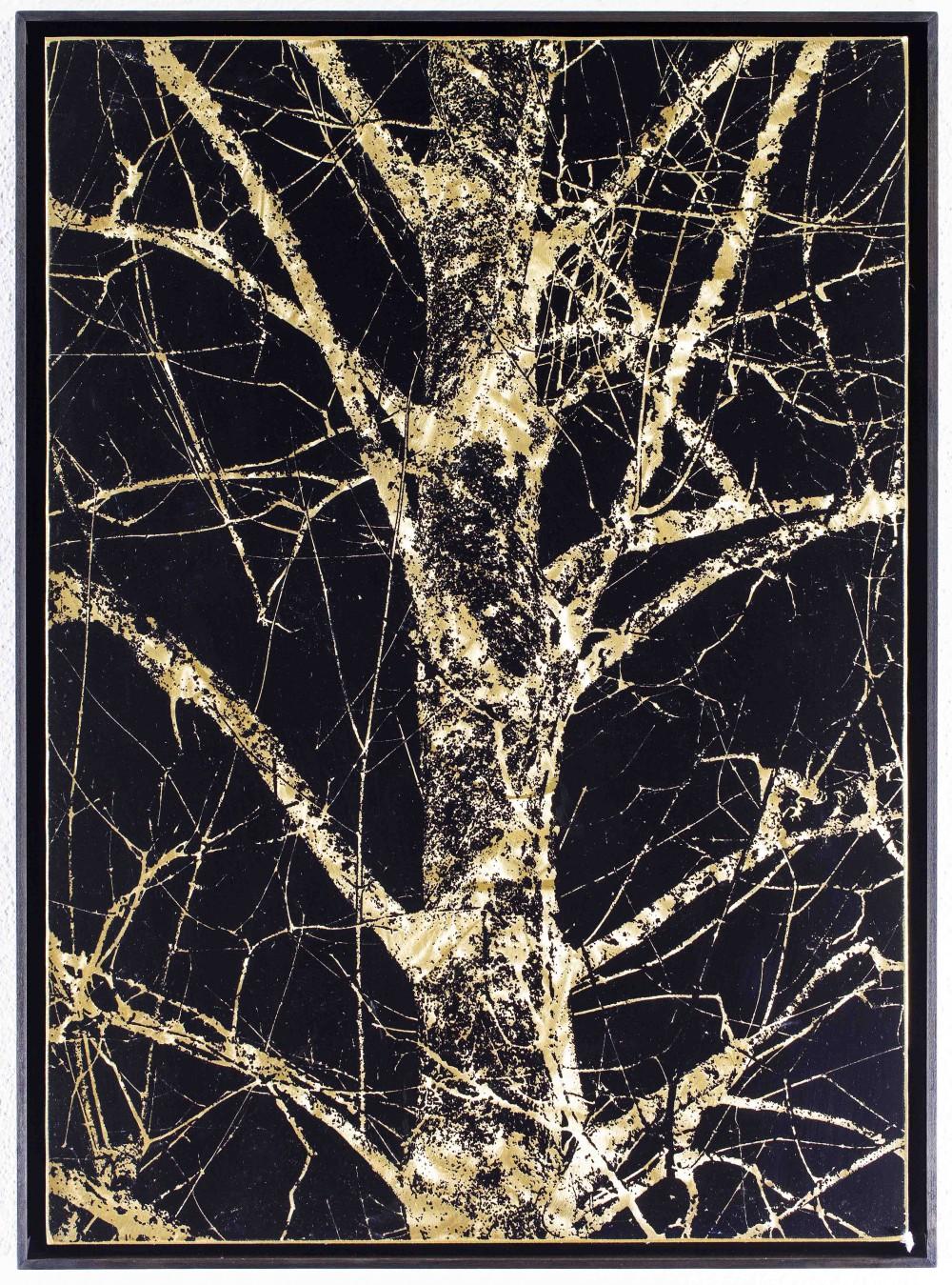 Stammgold, 2015, 70x50cm, Reliefdruck auf Messing