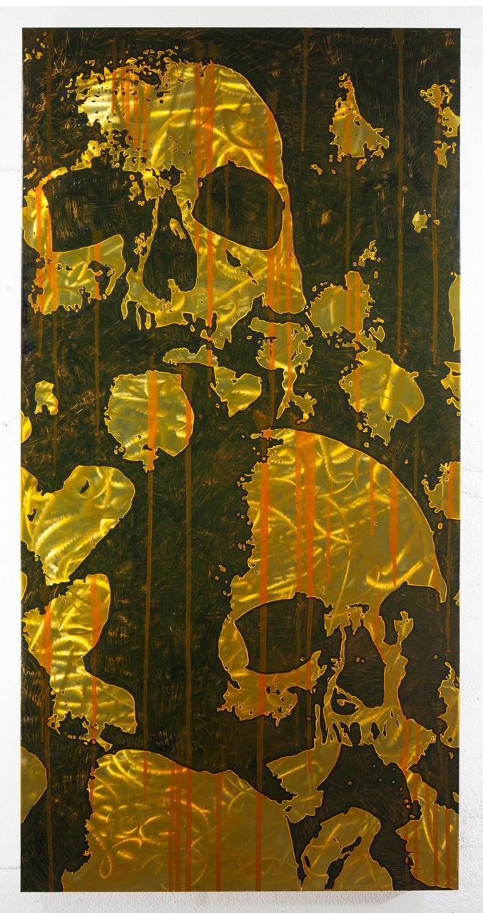 Verwahrung, 2013, 150x75cm, Mischtechnik auf Metal