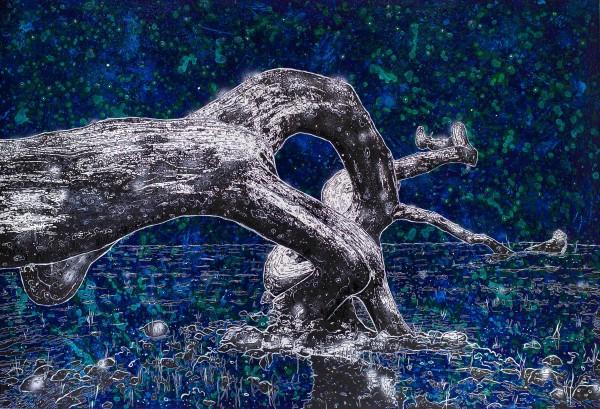 Driftwood, 2018, 170x250cm, Malerei mischtechnik auf LW