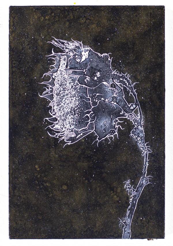 Einzelgänger, 2018, 60x40cm, Malerei mischtechnik auf LW