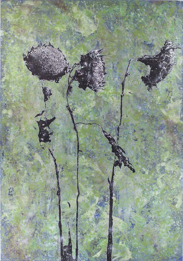 Standhaft, 2018, 200x140cm, Malerei mischtechnik auf LW