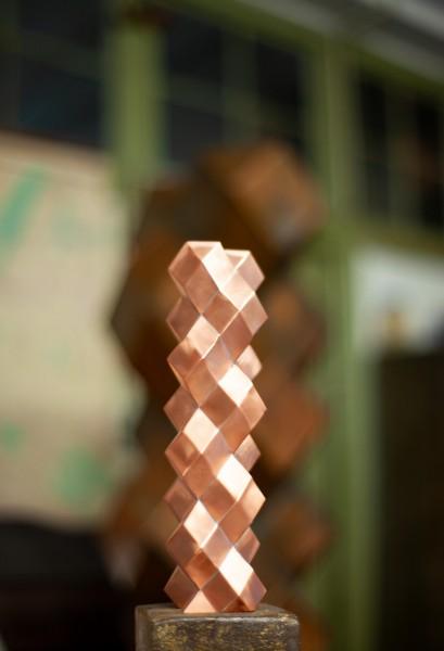 o.T. 27x7x7cm, 2020, Copper